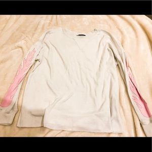 Pacsun L.A Hearts long sleeve flame top
